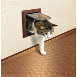"""Drzwi dla kota """"Freecat de Luxe"""" z tunelem brązowe"""