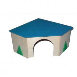 Domek drewniany dla gryzonia narożny Pinokio 06