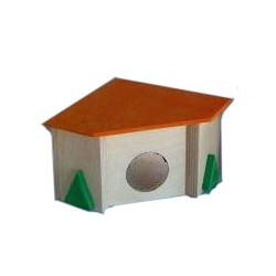 Domek drewniany dla chomika narożny Pinokio 03
