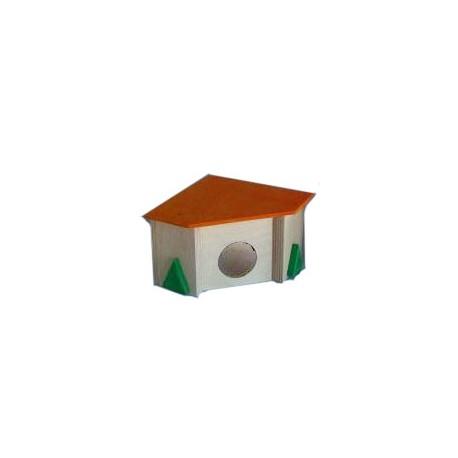 Domek drewniany dla gryzonia narożny Pinokio 04