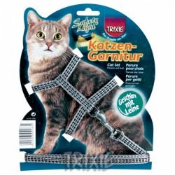 Szelki dla kota  odblaskowe ze smyczą