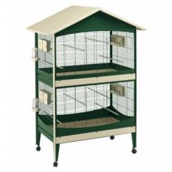 Woliera dla ptaków Ferplast Duetto podwójna z wyposażeniem