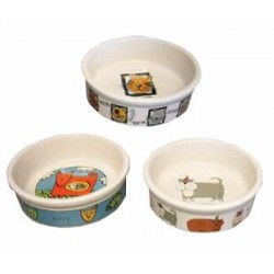 Miski ceramiczna dla kota, zestaw 4 szt., 0,2 l / 11,5 cm