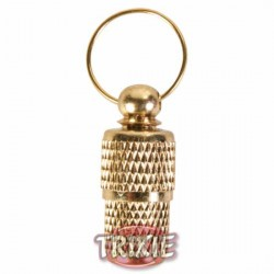 Adresówka w kolorze złotym dla psa Trixie