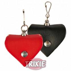 Adresówka skórzana czarna w kształcie serca Trixie