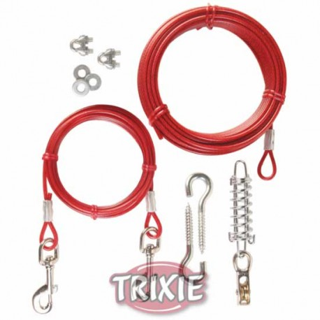 Linka stalowa ślizgowa 15 z przyczepem 3m Trixie