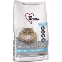 Karma z łososiem 3kg dla kotów domowych długowłosych 1st Choice