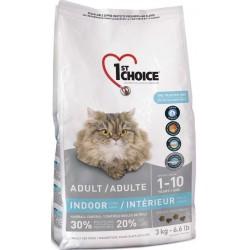 Karma z łososiem 6kg dla kotów domowych długowłosych 1st Choice