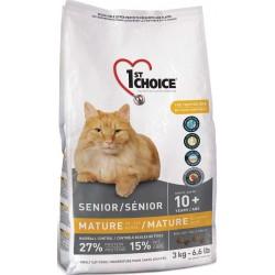Karma z kurczakiem 2,72kg dla kotów starszych i mniej aktywnych 1st