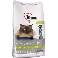 Karma z kurczakiem 3kg dla kotów o wrażliwym żołądku 1st Choice