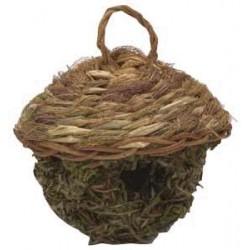 Gniazdo lęgówka zawieszana z trawy