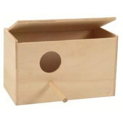 Domek lęgowy drewniany dla papużek