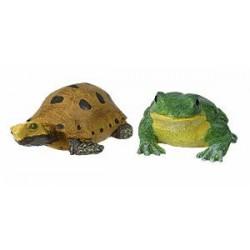 Dekoracja - Żaby i żółwie, 12 szt.
