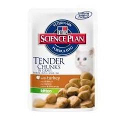 Kitten Turkey - saszetka z indykiem dla kociąt, karma Hill's