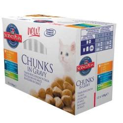 Kitten Classic Selection - 12 saszetek z rybą i kurczakiem dla k