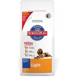 Mature Light 12kg, niskokaloryczna karma dla psów starszych Hill