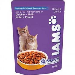IAMS KITTEN&JUNIOR, saszetka dla kociąt i kotek karmiących