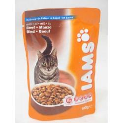 IAMS BEEF GRAVY, saszetka dla kotów z wołowina w sosie