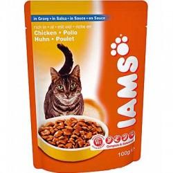 IAMS CHICKEN GRAVY, saszetka dla kotów z kurczakiem w sosie
