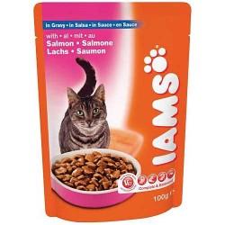 IAMS SALMON, saszetka dla kotów z łososiem w sosie