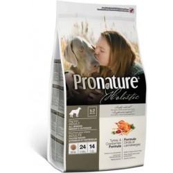 Karma holistyczna 13,6kg z indykiem i żurawiną dla psa Pronature