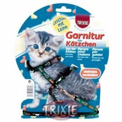 Szelki i smycz dla kociąt z motywem Trixie