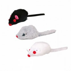 Myszka pluszowa z kocimiętką biała Trixie (12 sztuk)