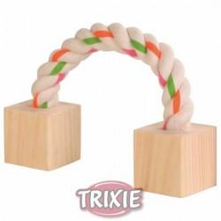 Zabawka dla gryzoni sznurowo-drewniana 20cm Trixie