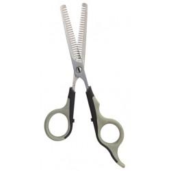 Nożyce trymerskie do cieniowania dwustronne, 18,5 cm