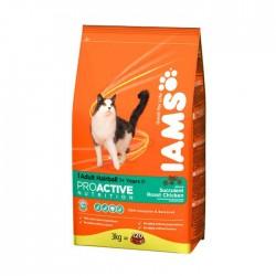 IAMS ADULT HAIRBALL - koty dorosłe, przeciw kulom włosowym