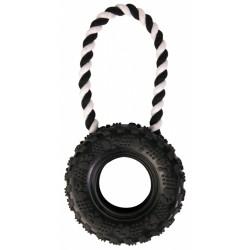 Opona- koło na sznurku, zabawka dla psa Trixie