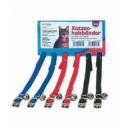 Obroża nylonowa dla kota (zestaw 6 sztuk)