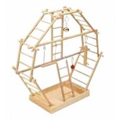 Plac zabaw z drabinkami dla ptaka