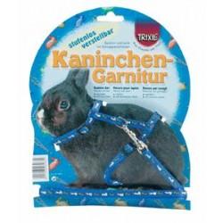 Szelki dla królika z nadrukiem plus smycz Trixie