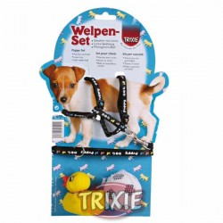 Szeleczki ze smyczą i 2 zabawki dla szczeniąt Trixie