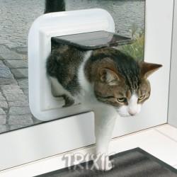 """Drzwi dla kota """"Freecat de Luxe"""" do drzwi szklanych białe"""