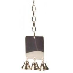 Lusterko metalowe z 3 dzwoneczkami