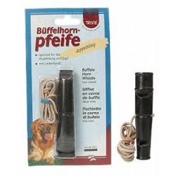 Gwizdek dla psa dwutonowy 6,5cm z bawolego rogu